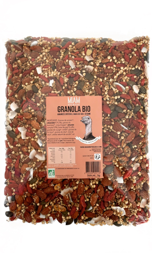 granola bio vegan made in france baies de Goji sésame amandes MIAM REPUBLIQUE