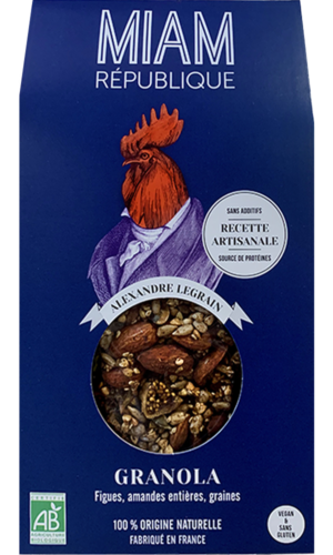 granola bio vegan made in france figues amandes graines MIAM REPUBLIQUE