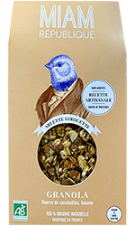 granola bio vegan sans gluten made in france peanut butter banane MIAM REPUBLIQUE