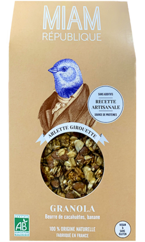 granola bio vegan made in france peanut butter banane MIAM REPUBLIQUE